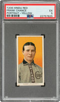 Baseball Cards:Singles (Pre-1930), 1909-11 T206 Hindu-Red Frank Chance (Portrait-Yellow) PSA EX 5 - Pop One, None Higher for Brand! ...