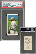 Baseball Cards:Singles (Pre-1930), 1909-11 T206 Cycle 350 Chief Bender (Trees In Background) PSA EX-MT 6 - Only Two PSA-Graded Examples! ...
