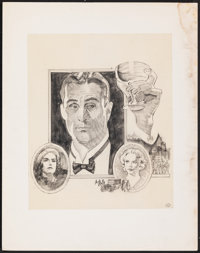 Once Upon a Time in America by Tom Jung (Warner Bros., 1984). Fine+ on Paper. Original Graphite Concept Drawing Set of 2...