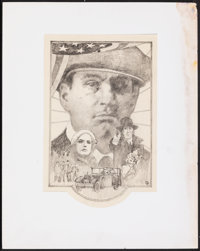 Once Upon a Time in America by Tom Jung (Warner Bros., 1984). Fine/Very Fine. Graphite Concept Drawings on Paper (2) (19...