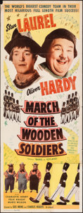 "Movie Posters:Comedy, Babes in Toyland (Lippert, R-1950). Folded, Very Good-. Insert (14"" X 36"") Reissue Title: March of the Wooden Soldiers. ..."