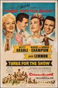 "Movie Posters:Musical, Three for the Show (Columbia, 1954). Folded, Fine-. One Sheet (27"" X 41""). Musical.. ..."