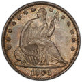 1856-O 50C AU55 PCGS. CAC. PCGS Population: (46/157 and 0/7+). NGC Census: (28/146 and 0/1+). CDN: $280 Whsle. Bid for N...