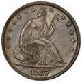 Seated Half Dollars: , 1857 50C AU53 PCGS. CAC. PCGS Population: (36/147 and 0/3+). NGC Census: (15/146 and 0/0+). CDN: $215 Whsle. Bid for NGC/PC...
