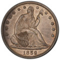 Seated Half Dollars: , 1859 50C AU50 PCGS. CAC. PCGS Population: (36/164 and 0/3+). NGC Census: (15/151 and 0/2+). CDN: $200 Whsle. Bid for NGC/PC...