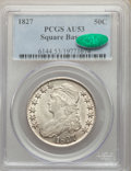 1827 50C Square Base 2 AU53 PCGS. CAC. PCGS Population: (297/1107). NGC Census: (109/704). CDN: $290 Whsle. Bid for NGC/...
