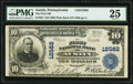 National Bank Notes:Pennsylvania, Austin, PA - $10 1902 Plain Back Fr. 635 The First National Bank Ch. # 12562 PMG Very Fine 25.. ...