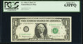 Low Serial Number 1122 Fr. 1901-E $1 1963A Federal Reserve Note. PCGS Choice New 63PPQ