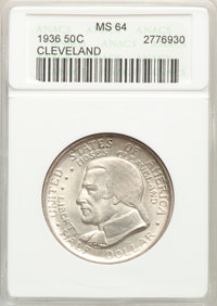 1936 50C Cleveland MS64 ANACS. Mintage 50,030. ...(PCGS# 9288)