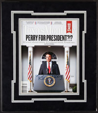 Rick Perry Signed Texas Monthly Magazine