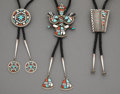 American Indian Art:Jewelry and Silverwork, Three Southwest Bolo Ties... (Total: 3 )