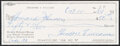 Autographs:Checks, 1984 Ted Williams Signed Check. ...