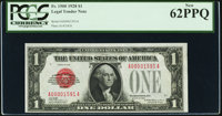 Low Serial Number 1591 Fr. 1500 $1 1928 Legal Tender Note. PCGS New 62PPQ