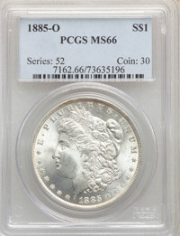 1885-O $1 MS66 PCGS. PCGS Population: (2911/364). NGC Census: (4717/578). CDN: $175 Whsle. Bid for NGC/PCGS MS66. Mintag...