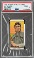 Baseball Cards:Singles (Pre-1930), 1909-11 T206 American Beauty 460 Napoleon Lajoie (With Bat) PSA Good+ 2.5 - Only Two PSA-Graded Examples! ...