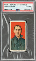 Baseball Cards:Singles (Pre-1930), 1909-11 T206 American Beauty 350-With Frame Jake Beckley PSA EX-MT 6 - Pop One, None Higher for Brand! ...
