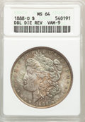 1888-O $1 Doubled Arrows, VAM-9, Top 100, MS64 ANACS. ...(PCGS# 133920)
