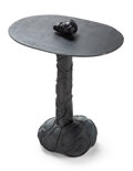 Furniture, Elizabeth Garouste (French, b. 1946) and Mattia Bonetti (Swiss, b. 1952). Stromboli Side Table, circa 1990. Patinated br...