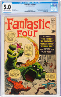 Fantastic Four #1 (Marvel, 1961) CGC VG/FN 5.0 Cream to off-white pages