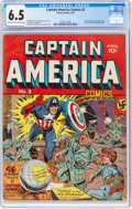 Golden Age (1938-1955):Superhero, Captain America Comics #2 (Timely, 1941) CGC FN+ 6.5 Light tan to off-white pages....