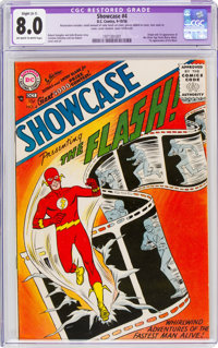Showcase #4 The Flash (DC, 1956) CGC Apparent VF 8.0 Off-white to white pages