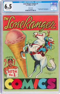 Lone Ranger Comics #1 Poster Variant (Lone Ranger Inc., 1939) CGC FN+ 6.5 Off-white pages