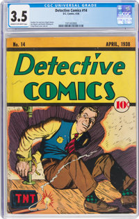 Detective Comics #14 (DC, 1938) CGC VG- 3.5 Cream to off-white pages