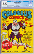 Golden Age (1938-1955):Superhero, Colossus Comics #1 (Sun Publications, 1940) CGC FN+ 6.5 Off-white to white pages....