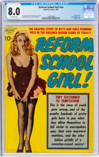 Reform School Girl #nn (Realistic Comics, 1951) CGC VF 8.0 Off-white pages