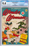 Golden Age (1938-1955):Superhero, Wonder Woman #10 Double Cover (DC, 1944) CGC NM 9.4 Off-white to white pages....
