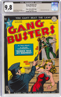 Gang Busters #1 Mile High Pedigree (DC, 1947) CGC NM/MT 9.8 White pages