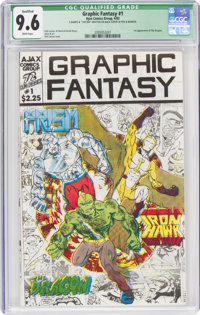 Graphic Fantasy #1 Limited Edition #142/300 (Ajax Comics Group, 1982) CGC Qualified NM+ 9.6 White pages