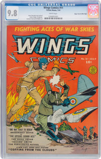 Wings Comics #11 Mile High Pedigree (Fiction House, 1941) CGC NM/MT 9.8 White pages