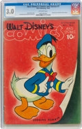 Golden Age (1938-1955):Cartoon Character, Walt Disney's Comics and Stories #1 (Dell, 1940) CGC GD/VG 3.0 Off-white pages....
