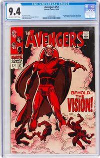The Avengers #57 (Marvel, 1968) CGC NM 9.4 Off-white to white pages