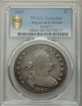 1803 $1 Small 3 -- Repaired -- PCGS Genuine. Good Details. Mintage 85,634....(PCGS# 6900)