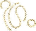 Estate Jewelry:Suites, Gold Jewelry Suite, Elsa Peretti for Tiffany & Co. . ... (Total: 3 Items)