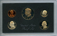 1983-S 1C-50C Five-Piece Proof Set, Including No S Dime, Uncertified. The coins remain housed in the original plastic Mi...