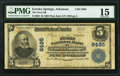 National Bank Notes:Arkansas, Eureka Springs, AR - $5 1902 Plain Back Fr. 600 The First National Bank Ch. # 8495 PMG Choice Fine 15.. ...