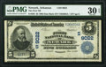 National Bank Notes:Arkansas, Newark, AR - $5 1902 Date Back Fr. 592 The First National Bank Ch. # (S)9022 PMG Very Fine 30 EPQ.. ...