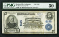 National Bank Notes:Arkansas, Bentonville, AR - $5 1902 Plain Back Fr. 599 The Benton County National Bank Ch. # 8135 PMG Very Fine 30.. ...