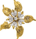 Estate Jewelry:Brooches - Pins, Diamond, Platinum, Gold Clip-Brooch, Schlumberger for Tiffany & Co. . ...