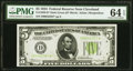 Fr. 1956-D* $5 1934 Light Green Seal Federal Reserve Note. PMG Choice Uncirculated 64 EPQ