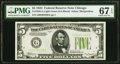 Small Size:Federal Reserve Notes, Fr. 1955-G $5 1934 Light Green Seal Federal Reserve Note. PMG Superb Gem Unc 67 EPQ.. ...