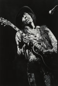 Photographs, Elliot Landy (American, b. 1942). Jimi Hendrix, Fillmore East, New York City, 1968. Gelatin silver. 18 x 12-1/4 inches (...