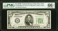 Small Size:Federal Reserve Notes, Fr. 1958-B $5 1934B Federal Reserve Note with Face Plate 212. PMG Gem Uncirculated 66 EPQ.. ...