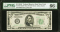 Small Size:Federal Reserve Notes, Fr. 1959-B $5 1934C Mule Federal Reserve Note with Back Plate 637. PMG Gem Uncirculated 66 EPQ.. ...