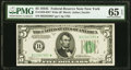 Small Size:Federal Reserve Notes, Fr. 1959-B* $5 1934C Wide Federal Reserve Note. PMG Gem Uncirculated 65 EPQ.. ...