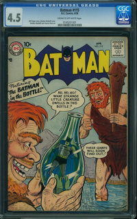 Batman #115 (DC, 1958) CGC VG+ 4.5 Cream to off-white pages