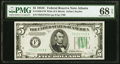 Small Size:Federal Reserve Notes, Fr. 1959-F $5 1934C Wide Federal Reserve Note. PMG Superb Gem Unc 68 EPQ.. ...